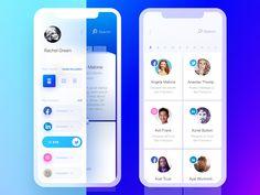 Side Nav Dark Rolodex & Light Tiles by Yaroslav Zubko Ios App Design, Mobile Web Design, Ux Design, Onboarding App, Android Ui, App Design Inspiration, Design Ideas, Rolodex, Mobile App Ui