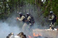 военная техника украинской армии прорывается в центр Славянска