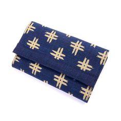 Fächerportemonnaie Japanstoff blau