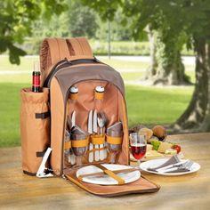 Picknickrucksack mit Kühlfach - Esmeyer - FREETIME 23tlg. Praktischer Picknickrucksack bei dem alles dabei ist was Sie für Ihr einen Aufenthalt im… Outdoor Living, Backpacks, Beige, Forks, Wine Glass, Outdoor Life, Backpack, The Great Outdoors, Outdoors