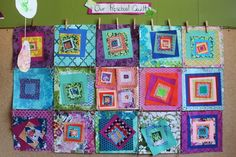 scrumdilly-do!: we made a paper quilt, you can too!