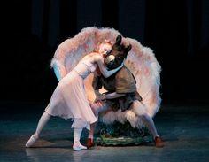 Teresa Reichlen as Titania, with Bottom (Henry Seth) in Balanchine's A Midsummer Night's Dream. © Paul Kolnik.