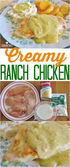 Creamy Ranch Chicken recipe from The Country Cook. Only 4 ingredients!