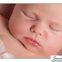 Little Jessica having a snooze in the studio at her newborn photo shoot. #baby #photography #sussex #newborn