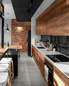 - Modern Interior Designs - 44 Modern Apartment Interior ideas that Grab Everyone's Attention Decorati. 44 Modern Apartment Interior ideas that Grab Everyone's Attention Decoration # Home Decor Kitchen, Kitchen Interior, New Kitchen, Home Kitchens, Modern Kitchens, Apartment Kitchen, Kitchen Modern, Apartment Design, Awesome Kitchen
