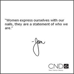 CND Co-Founder & Style Director, Jan Arnold, on why she loves #nailartistry.