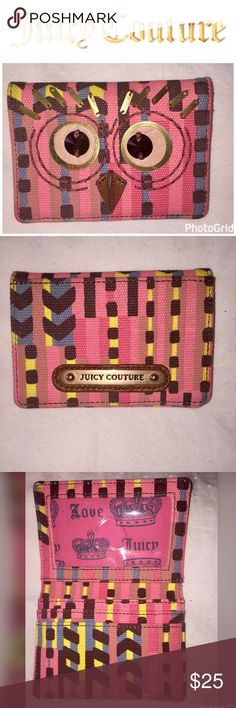 """Juicy Couture NWOT Owl Wallet Card Holder Juicy Couture NWOT Owl Wallet Card Holder, Never Used, From Smoke & Pet Free Home, 3"""" Length X 4.25"""" Width Juicy Couture Bags Wallets"""