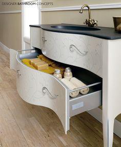 Vivaldi Designer Freestanding Bathroom Furniture - Drawer Detail