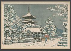 1956 - Takeji Asano - Ueno Park in Snow