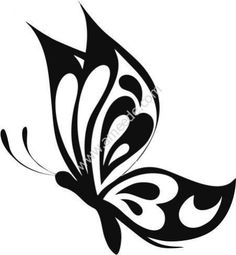 One Color Vinyl Cut Out Butterfly Sticker. Our Butterfly decals are very easy to apply and are designed specifically for outdoor use. Buy your Butterfly Sticker from Car Stickers! Butterfly Stencil, Butterfly Drawing, Butterfly Template, Butterfly Painting, Butterfly Crafts, Painted Rocks, Wall Stickers, Free Design, Vector Free