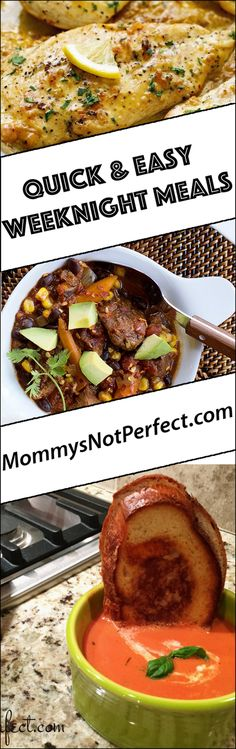 Quick & Easy Weeknight Meals - www.mommysnotperfect.com The Ultimate Pinterest Party, Week 88