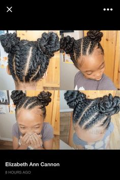 Flat twists and buns.
