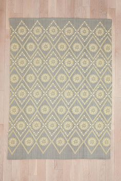 Plum & Bow Two-Tone Eyelet Rug from Urban Outfitters