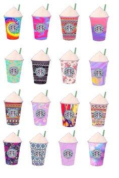 starbucks designs would be a cute idea to actually do