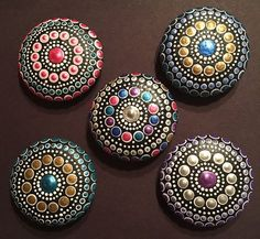 Custom order for mil639015 Mandala by DotsOfPaintCreations on Etsy