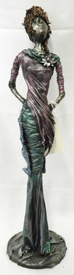 Clever in cotton: For something truly different, check out the works of Mary Lou Devine, who creates what look like metal statues for home or garden from cotton T-shirts and a textile hardener caller Paverpol.