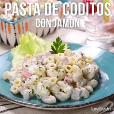 Video of Coditos Pasta with Cold Ham- Coditos pasta with cold ham is a simple and delicious recipe, perfect for a hot day or a children's party. Its rich flavor will be everyone's favorite. Top Recipes, Gourmet Recipes, Mexican Food Recipes, Salad Recipes, Cooking Recipes, Healthy Recipes, Ham Pasta, Pasta Dishes, Pasta Salad