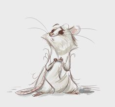 Sweet Mouse Draft . Character Sketch / Drawing Illustration