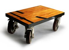 Gym Floor Coffee Table. $1,500.00, via Etsy.- I think I could make that possibly one day if I actually become crafty!