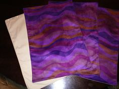 Custom Purple Suede Placemats
