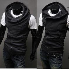 Hoodie Vest Mens
