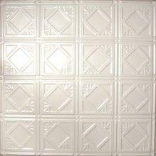 0603 Tin Ceiling Tile - White - Diamondback Squares