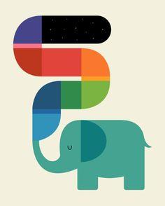 Rainbow Painter Art Print
