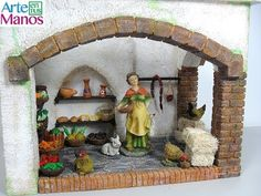 Grocery store for nativity scenes step by step Christmas Villages, Build Your Own, Grocery Store, Tea Lights, Creando Ideas, Ideas Para, Fairy, Miniatures, Xmas