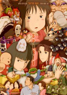 Spirited Away Miyazaki Hayao Miyazaki, Totoro, Poster Anime, Poster S, Studio Ghibli Art, Studio Ghibli Movies, Anime Disney, Chihiro Y Haku, Castle In The Sky