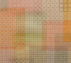22 Screens (detail) ~ artist Kate Russo.  Colored pencil on graph paper.  Many other beautiful & intricate patterns on her site - wonderful inspiration.  #art #journal