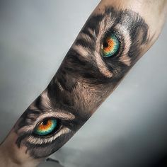 Image may contain: one or more people Wolf Eye Tattoo, Tigeraugen Tattoo, Tiger Eyes Tattoo, Tiger Tattoo Sleeve, Tiger Tattoo Design, Lion Tattoo, Piercing Tattoo, Sleeve Tattoos, Tattoo Designs