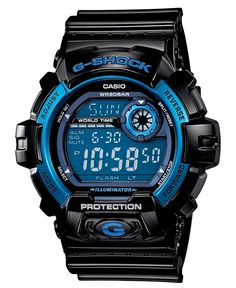 G-Shock Watch, Men's Digital Black Resin Strap 46mm G8900A-1 - All Watches - Jewelry & Watches - Macy's