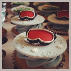 Ski Cupcakes ~ Kakes by Kristi