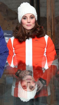 Kate Middleton Photos - Catherine, Duchess of Cambridge is reflected in glass at Holmenkollen ski jump, where she and Prince William, Duke of Cambridge, will take a short tour of the museum before ascending to the top of ski jump to talk with and observe junior ski jumpers from Norway's national team on day 4 of their visit to Sweden and Norway on February 2, 2018 in Oslo, Norway. - The Duke and Duchess of Cambridge Visit Sweden and Norway - Day 4