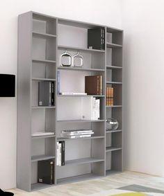 Valsa bookcase in matte grey