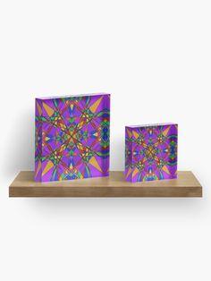 """Geometric Stain Glass Star"" Acrylic Block by Pultzar   Redbubble"