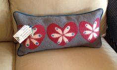 Wet felted fabric made by Leslie Cervenka, Bluebird Woolen Arts. Upholstered by Lakeside Living Design, LLC.