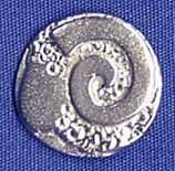 """Ram - Late Victorian Scottish Button - (M-13/16"""", Item # B-0070M-RT), ($6.50 per card of 6 buttons) - Three Feathers Pewter 12 East Jackson Street Millersburg, Ohio 44654-1214, Phone 330-674-0404"""