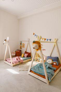Toddler Rooms, Baby Boy Rooms, Baby Room, Toddler Bed, Kids Bed Design, Montessori Bedroom, Small Bedroom Designs, Kid Beds, Girl Room