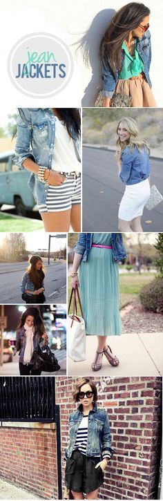 I am loving the Jean Jacket trend right now... especially these looks! {via My Daily Randomness}