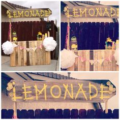 Adorable Lemonade Stand built with a pallet.