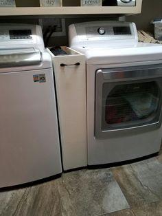 Roll away laundry storage