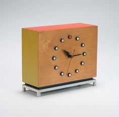 This awesome clock was designed in the 40's by the Herman Miller Clock Company in Zeeland, MI.