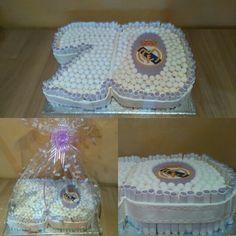 Tarta 70 cumpleaños. Real Madrid