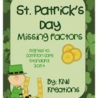 Practice finding missing factors in multiplication facts with this St. Patrick's Day themed worksheet.  freebie