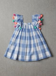Nellystella chloe dress in blue plaid pre order Baby Girl Frocks, Frocks For Girls, Toddler Girl Outfits, Little Girl Dresses, Kids Outfits, Cute Baby Dresses, Girl Toddler, Summer Dresses, Baby Outfits