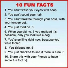 10 fun facts funny quotes quote jokes lol funny quote funny quotes humor - you need to read this - its hilarious Haters Gonna Hate, Funny Facts, Funny Jokes, Random Facts, Weird Facts, Funniest Jokes, Silly Facts, Jokes Sms, That's Weird