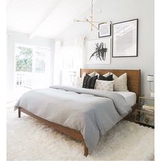 Bedroom inspo The question is... how/where will I find a California king here in Spain? #queenitis #homegoals #bedroom #inspo #llsdreamhome #interiors #westelm #homedecor