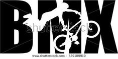 BMX word with silhouette cutout Silhouette Portrait, Silhouette Cameo, Bike Art, Life Pictures, Cricut, Marquis, Drawings, Skate, Taehyung