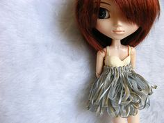 Pullip clothes Blue and ivory ribon outfit for by CarrotAtelier, $18.90